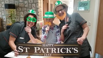 Springfield House celebrate St Patrick's Day