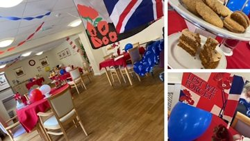 Remembrance Day coffee morning at Nottingham care home
