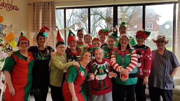 Festive fundraising at Sandon House for Elf Day