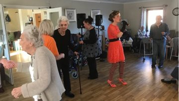 Residents dance to 70's classics at Ammanford care home