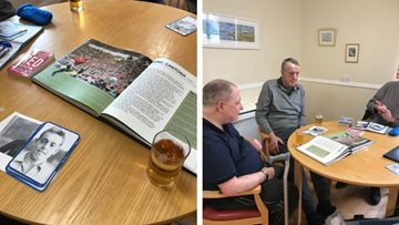 Football fans come together at Alloa care home