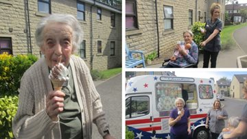 Ice creams all around at Sheffield care home