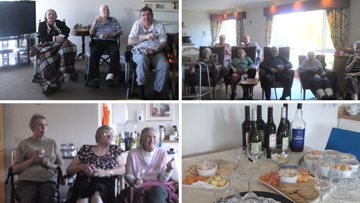 Cheese and wine night at Newcastle Care Home