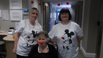 Red Nose Day at Jesmond care home