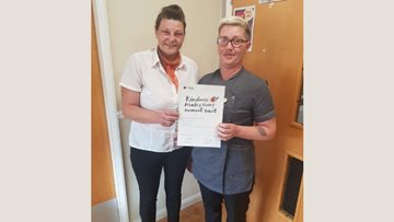 Kindness celebrated at Eckington care home