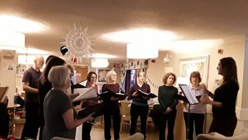 Beeston care home gets in the festive spirit with Christmas carols