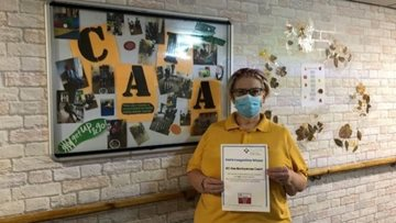Westquarter care home celebrate food based activities NAPA competition win