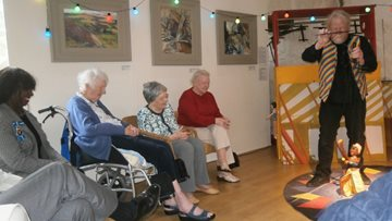 Penrith care home Residents enjoy puppet show at local art gallery
