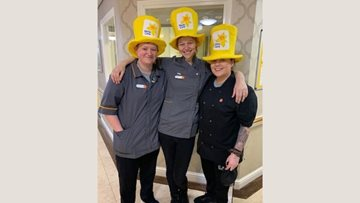 Stafford care home enjoys Marie Curie afternoon tea