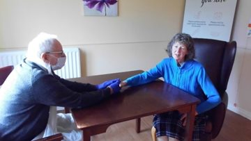 Leeds care home welcome first indoor visitors of the year
