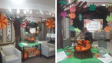 Pudsey care home Residents get harvest festival ready