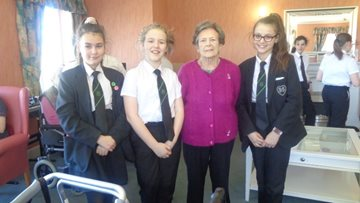 Roseberry Court Residents enjoy afternoon of smiles and laughter as Sacred Heart students visit home