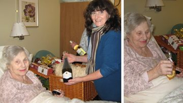 Christmas competition winner receives festive hamper