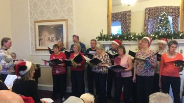 Christmas choir performance delights at Edinburgh care home