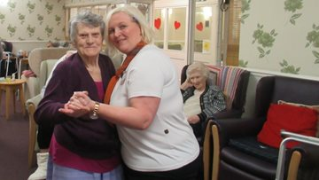 Valentine's Day dancing at Roxburgh House