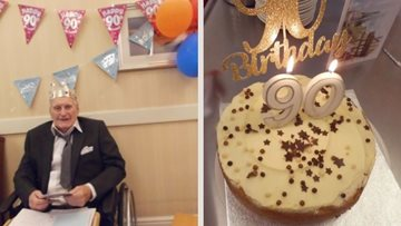 A virtual 90th birthday party for Nottingham care home Resident