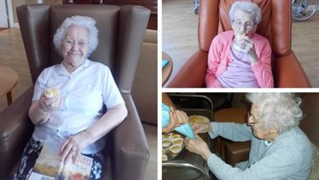 Baking fun at Nottingham care home