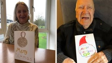 Newcastle care home Residents receive handmade Christmas cards from some old friends