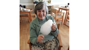 Candyfloss sparks a reminiscent session at Hartlepool care home
