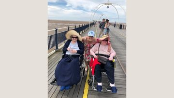Cobridge care home Residents enjoy trip to the seaside