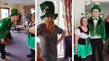 St Patrick's Day at Glenrothes care home