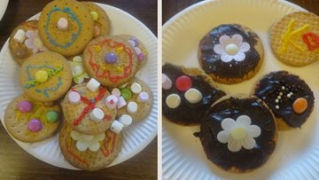 Shard End care home Residents enjoy baking fun