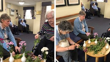 Blooming good time for Falkirk care home Residents