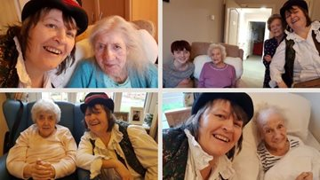 Musical Mad Hatter visits Redcar care home