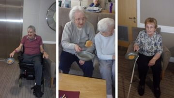 Melbury Court Residents have stacks of fun for Pancake Day