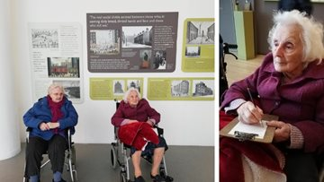 Dukinfield care home Residents enjoy Salford Quays museum visit