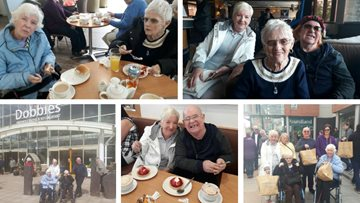 Glasgow care home Residents enjoy spring-time garden centre visit