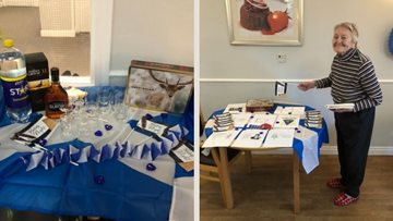 A very creative Burns Night at Hebburn care home