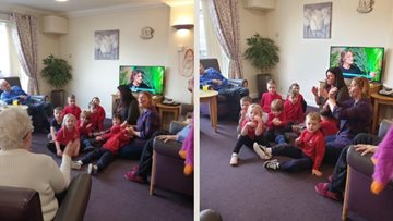 Intergenerational fun at Greenock care home