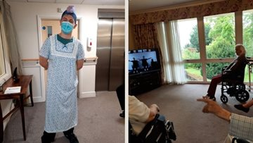 Burns gym session and pyjama day at Dunmow care home
