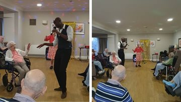 Musical entertainment at London care home