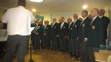 Male Choir puts on performance for Trafalgar Park