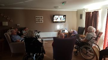 Dunstable care home Residents enjoy an evening of movies