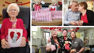 Worsley Lodge Residents celebrate Valentine's Day 2019