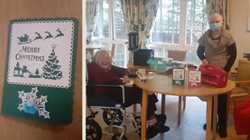 Dundee care home Residents craft handmade Christmas cards for loved ones
