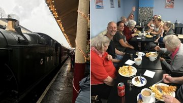 Ringway Mews Residents travel back in time at East Lancashire Railway