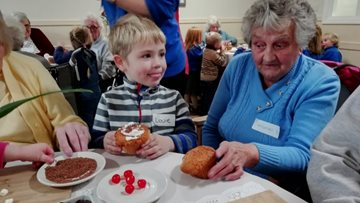 Festive fun for old and young at Haslington care home