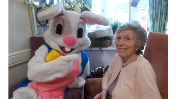 The Easter bunny pays a visit to Greenways Court