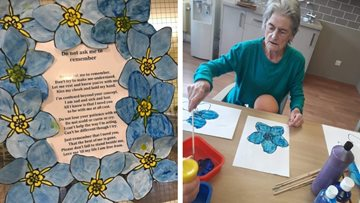 Floral crafts project blossoms at Newton Heath care home