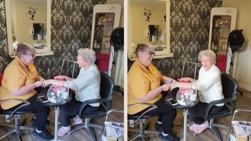 Massage therapy at Falkirk care home