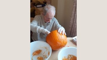 Pumpkin carving fun at Coventry care home