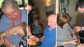 Zoo Lab visits Stirling Care Home