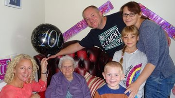 100th birthday celebrations at Caerphilly care home