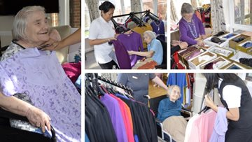 Retail therapy at Hayes care home