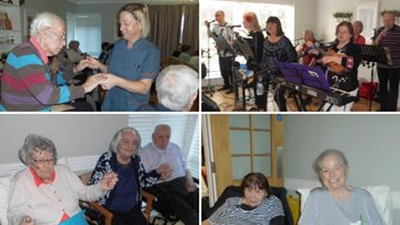 Phoenix Music Group are a hit with Residents at Hartlepool care home