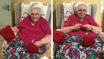 Irthlingborough care home Resident knits for good cause